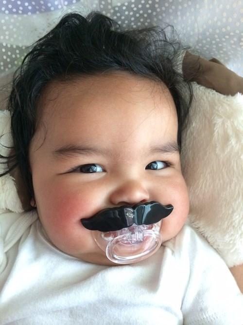 baby pacifier moustache mustache parenting - 8232799744