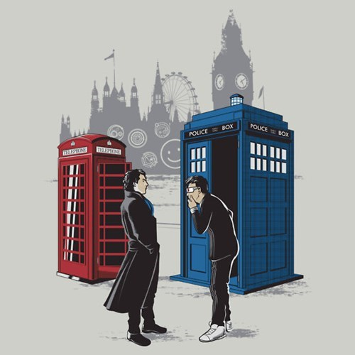 crossover,doctor who,Sherlock,tshirts