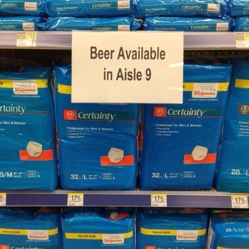 beer sign diapers funny store after 12 - 8232818688