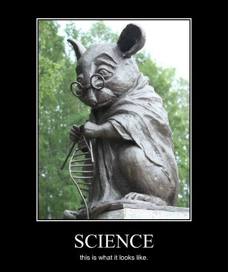 DNA mice science statue - 8233016064