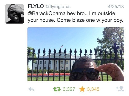 Music twitter flying lotus rap White house barack obama - 8233264640