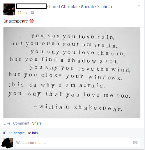 facepalm shakespeare quote - 8233306368