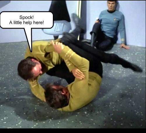 Captain Kirk fight Spock - 8233969152