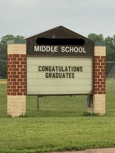 funny middle school spelling sign g rated School of FAIL - 8234225408