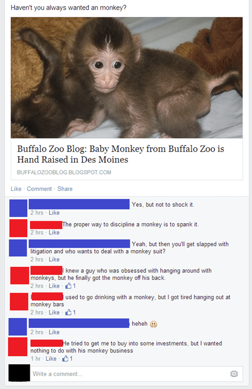 comments puns monkey