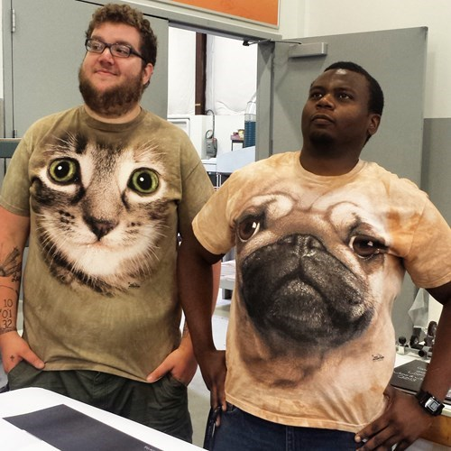 Cats,dogs,pug,t shirts,poorly dressed