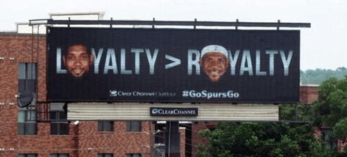 basketball,lebron james,nba,san antonio spurs,san antonio billboard