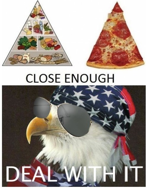 Deal With It food pyramid pizza - 8234753536