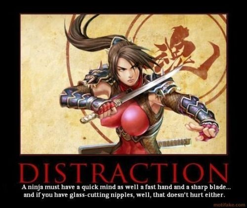 distraction ninjas bewbs funny - 8235244544