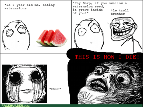 trollface brother watermelon - 8235265024