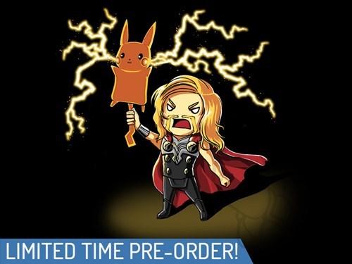 Thor pikachu tshirts - 8235420416