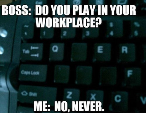 boss keyboard lies monday thru friday WASD g rated - 8235466496