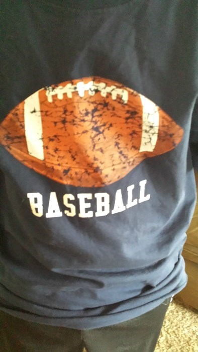 baseball FAIL football t shirts poorly dressed g rated - 8235471616