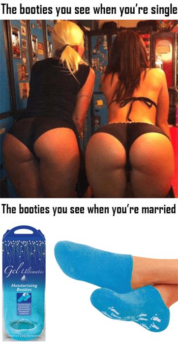 booty funny married single socks - 8235490304