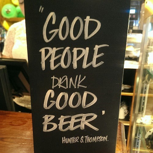 beer Hunter S Thompson quote funny - 8235540992