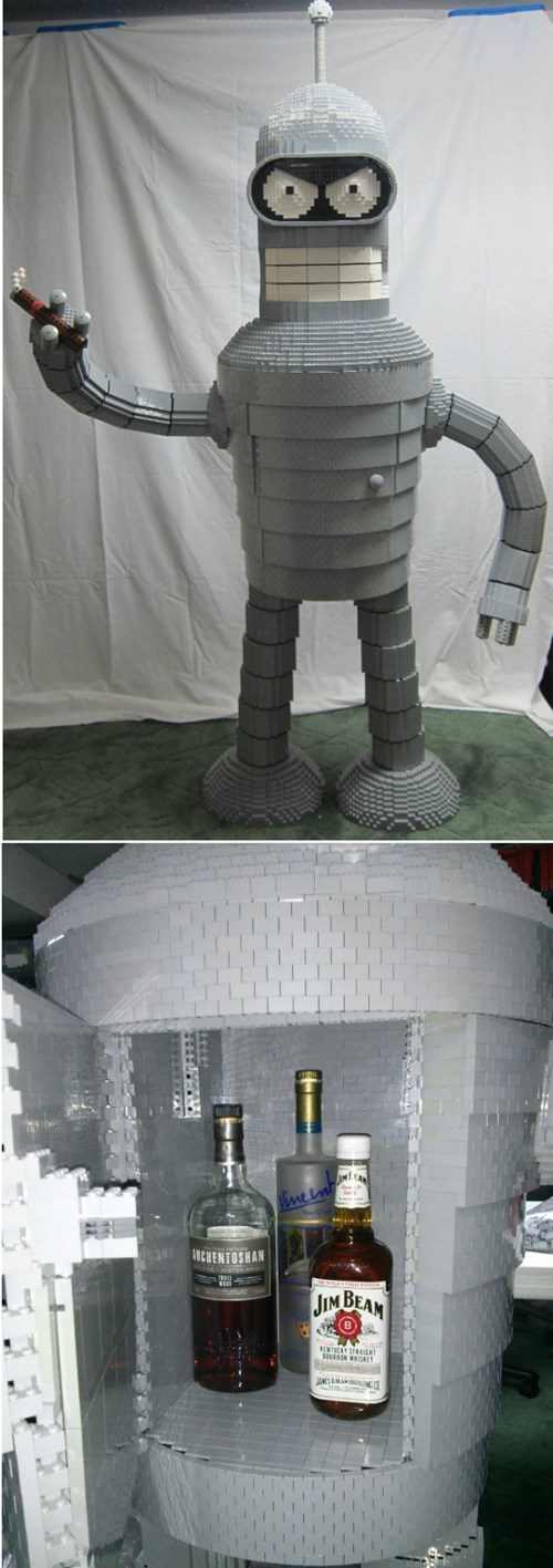 bender,futurama,lego,nerdgasm,g rated,win
