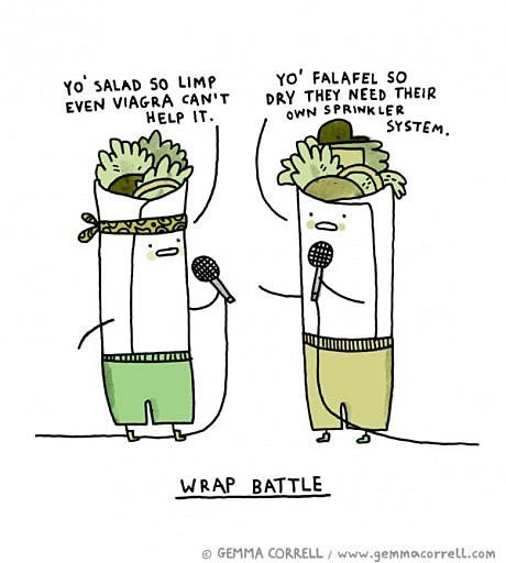 food,puns,rap battle,rap,web comics