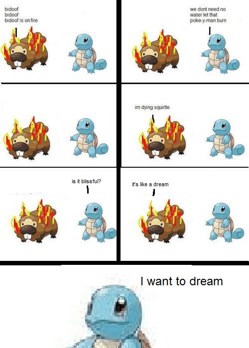 bidoof,dreams,black metal,existentialism,nihilism,Pokémon,squirtle,web comics