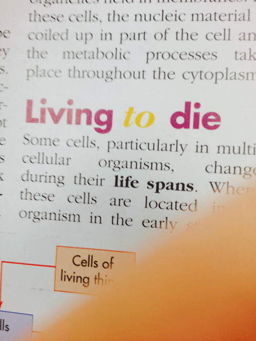 emo cells funny science text book - 8236620032