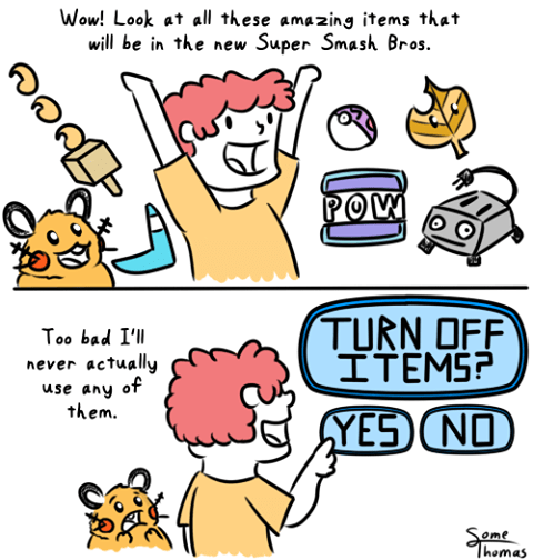 super smash bros items web comics some thomas