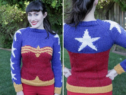 knitting,sweater,wonder woman