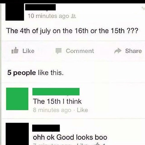 independence day facebook stupid people