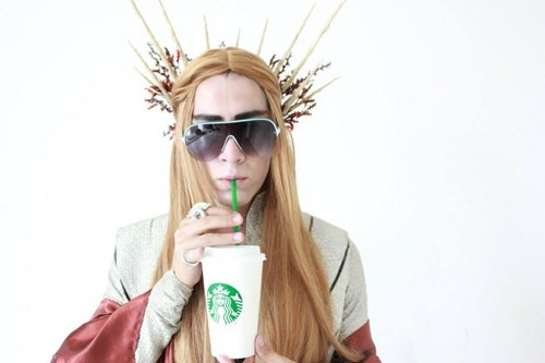 cosplay,elves,The Hobbit,Starbucks