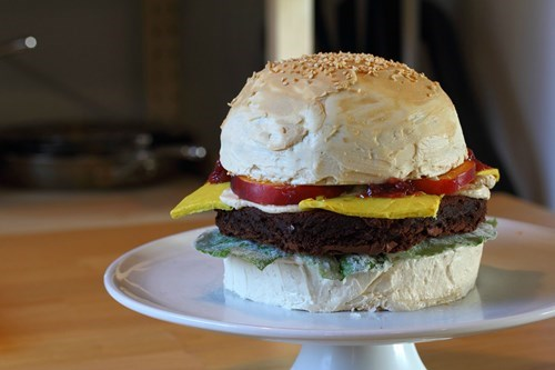 cheeseburger cake dessert food - 8236857856