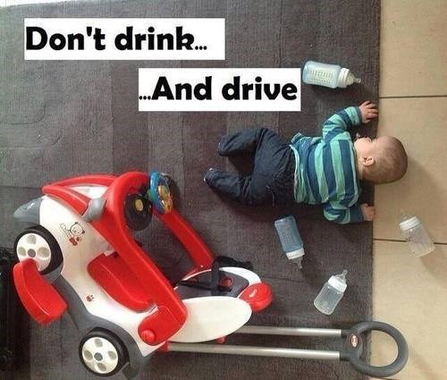 bad idea kids drunk driving funny - 8236911872