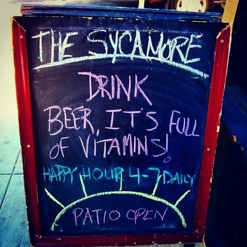 beer,funny,sign,vitamins,pub