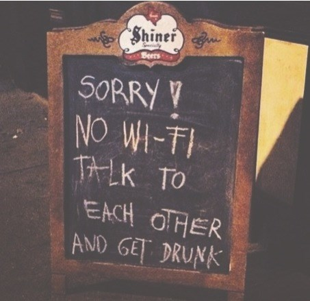 funny,sign,wifi,pub