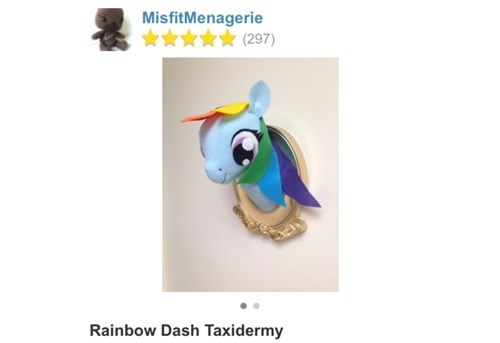 etsy creepy rainbow dash - 8237504512
