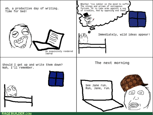 scumbag brain,sleep,writing