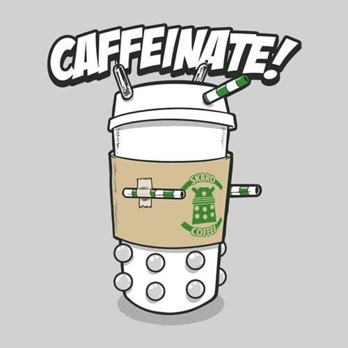 tshirts puns daleks coffee - 8237747456