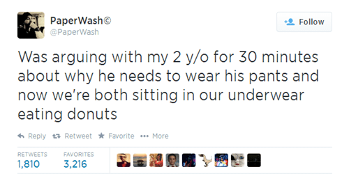 doughnuts,twitter,donuts,kids,parenting,no pants,g rated