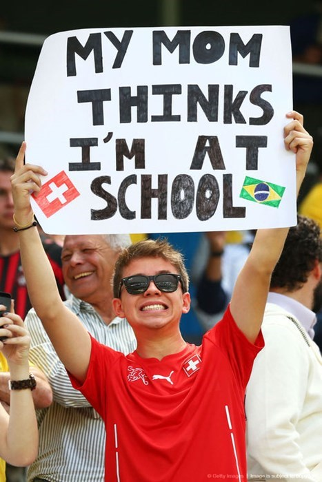 sign world cup parenting mom