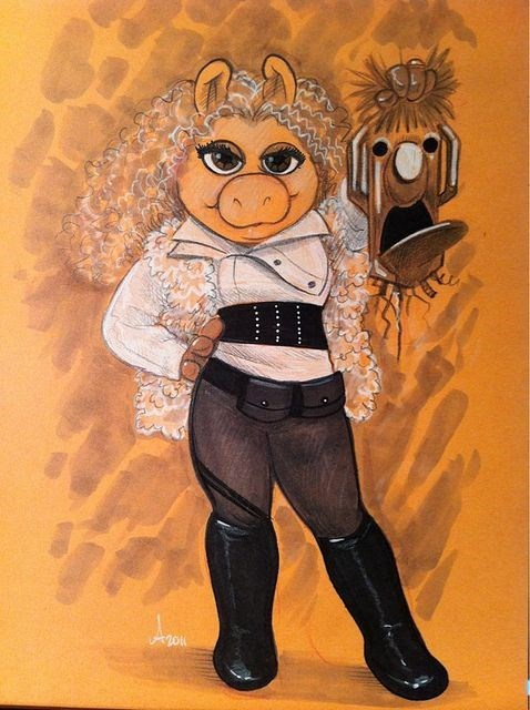Fan Art,miss piggy,River Song