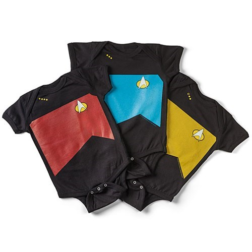 baby Star Trek TNG onesie parenting poorly dressed - 8237872384