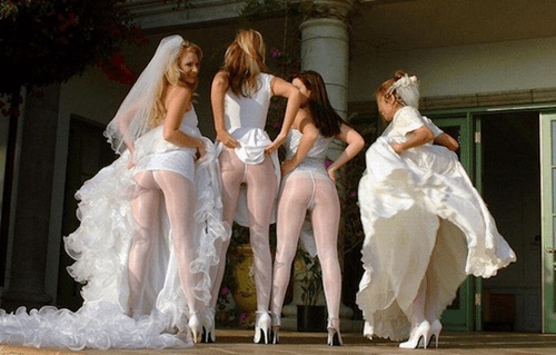 bridesmaid,poorly dressed,underwear,wedding