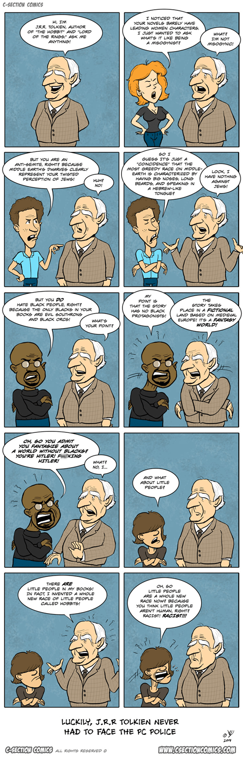 racism Lord of the Rings Misogyny tolkien Sad web comics