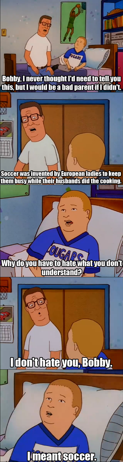 bobby hill,King of the hill,soccer
