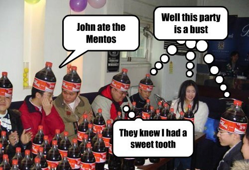 John ate the Mentos