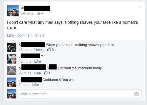 shaving,manly,burn,failbook