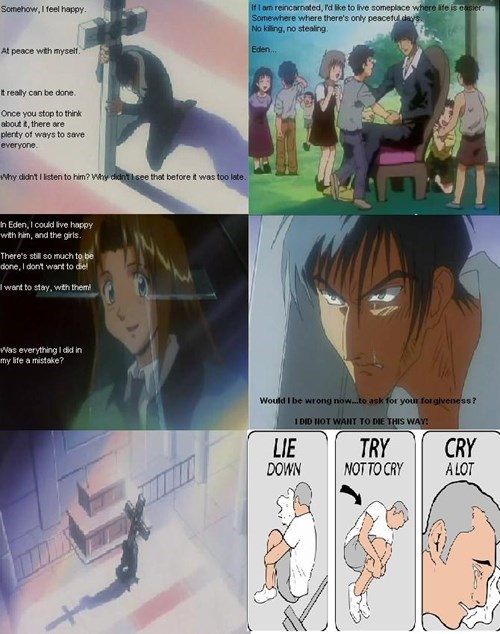 anime try not to cry trigun - 8238971904