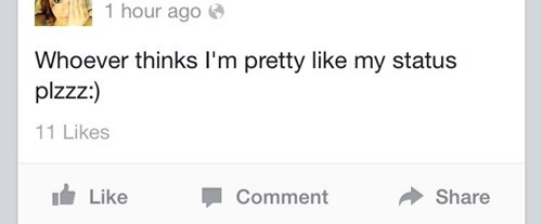 attention seeking facebook - 8239321856