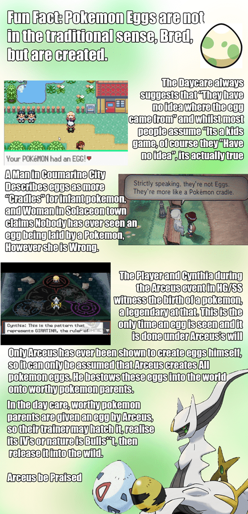 arceus eggs Pokémon