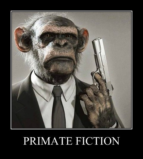 apes primates pulp fiction - 8239830784