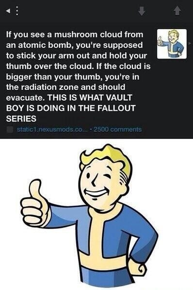 did you know vault boy fallout