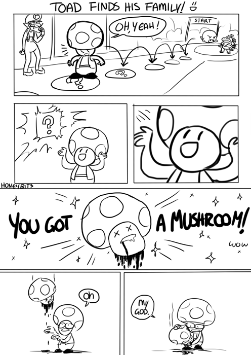mario,oh god why,toad,web comics
