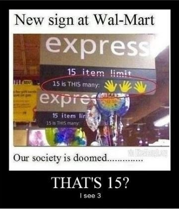 expressing funny signs Walmart